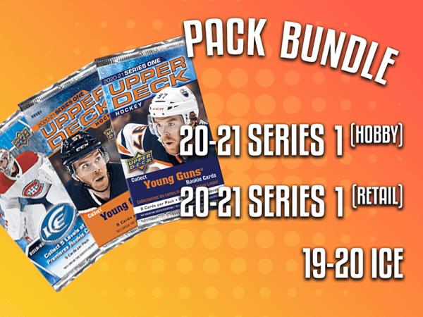 Pack Bundle - 20-21 UD Series 1 Hobby, 20-21 UD Series 1 Retail & 19-20 UD Ice Hockey