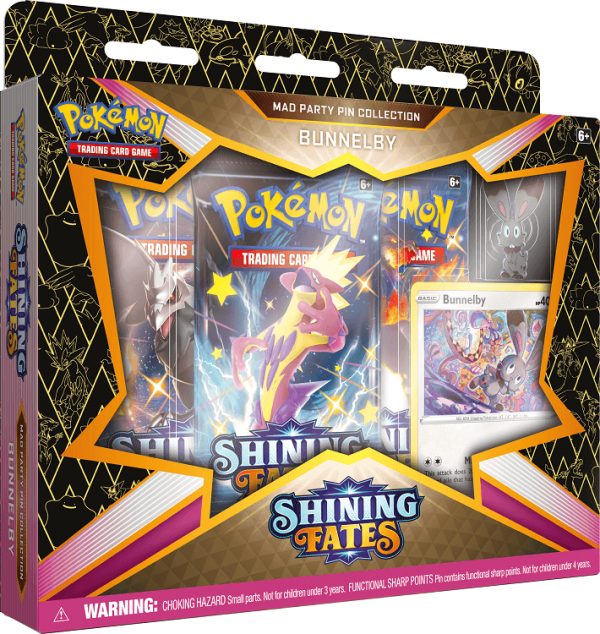 Pokemon Shining Fates Bunnelby Mad Party Pin Collection Box