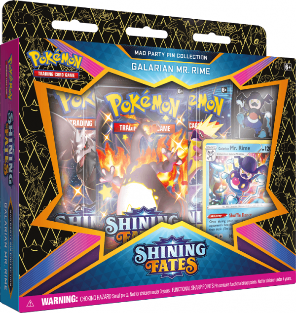 Pokemon Shining Fates Galarian Mr.Rime Mad Party Pin Collection Box