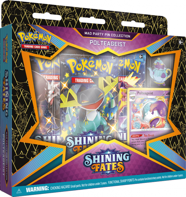 Pokemon Shining Fates Polteageist Mad Party Pin Collection Box