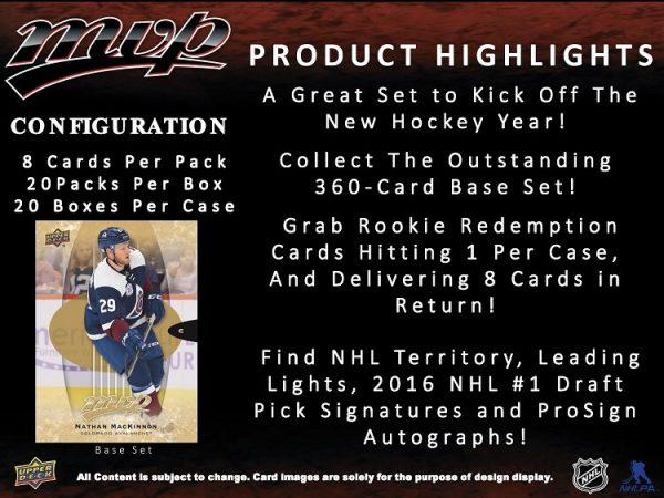 16-17 MVP Hockey Hobby Box