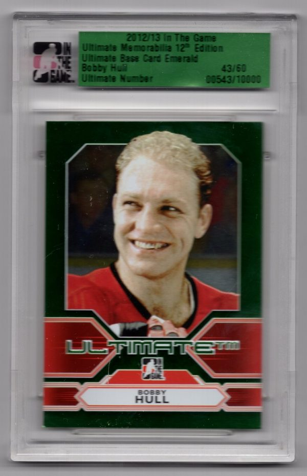 2012-13 ITG Ultimate 12th Edition Emerald Base Bobby Hull 43/60