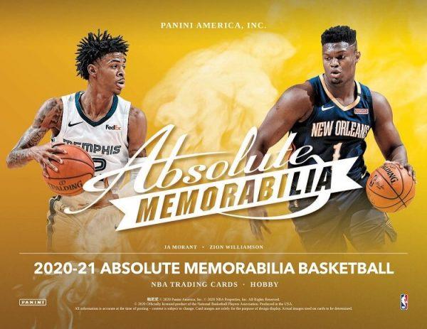 2020-21 Panini Absolute Memorabilia Hobby Basketball
