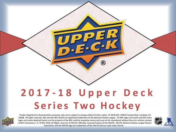 2017-18 Upper Deck Series 2 Retail Hockey