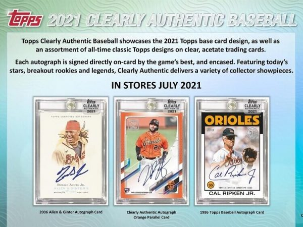 2021 Topps Clearly Authentic Hobby Baseball Box