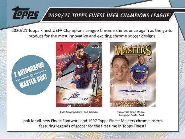 2021 Topps Finest Champions League UEFA Soccer Hobby Box