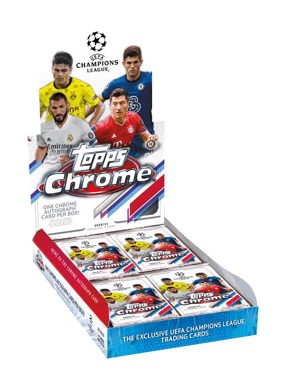 2021 Topps Chrome Champions League UEFA Soccer Hobby Box