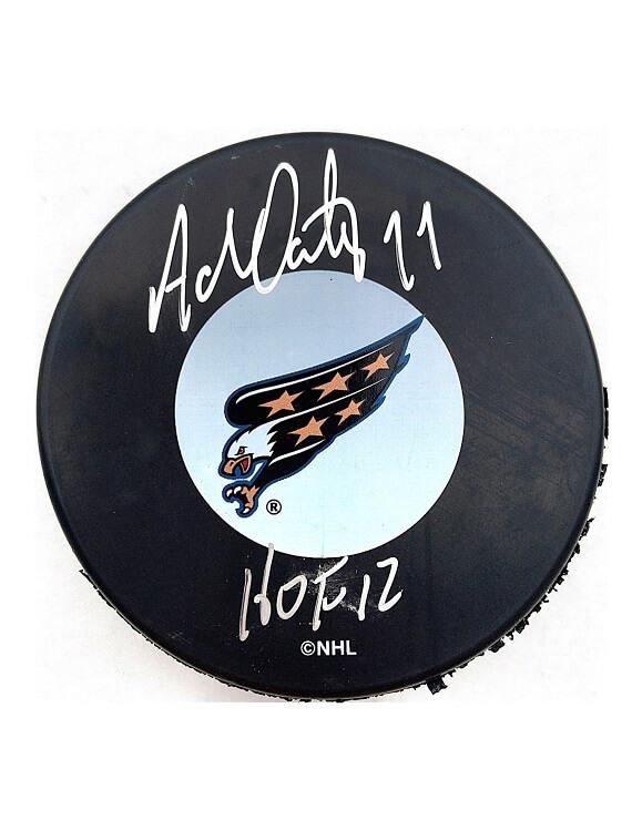 Adam Oates Autographed Puck Washington Capitals