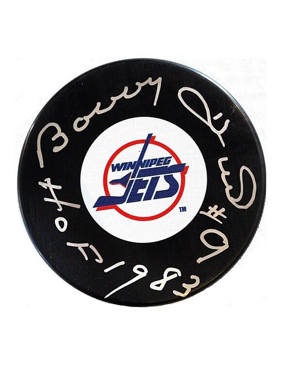 Bobby Hull Autographed Puck Winnipeg Jets