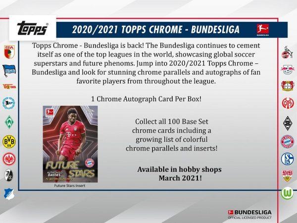 2021 Topps Chrome Bundesliga Soccer Hobby Box