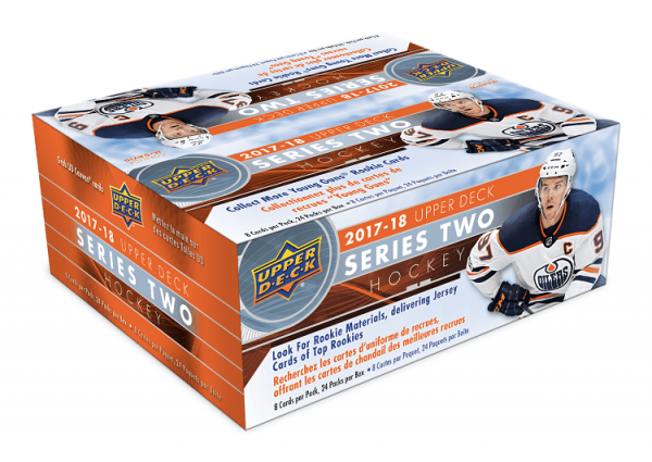 2017-18 Upper Deck Series 2 Hockey Retail Box