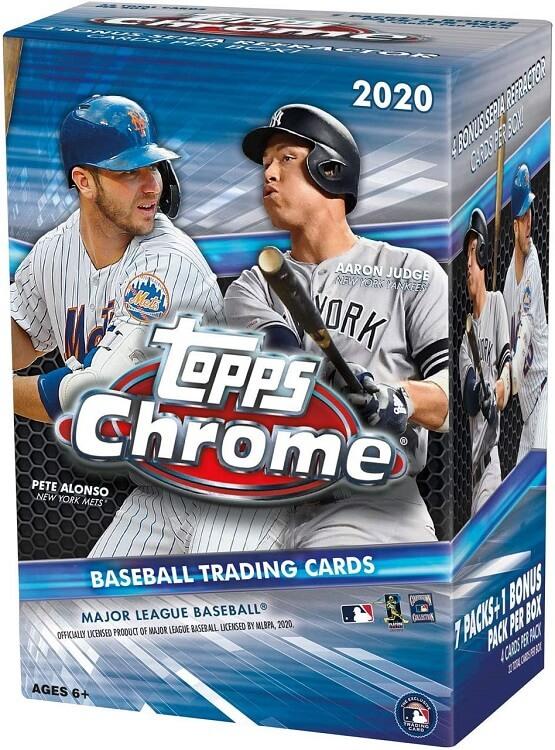 2020 Topps Chrome Baseball Blaster Box
