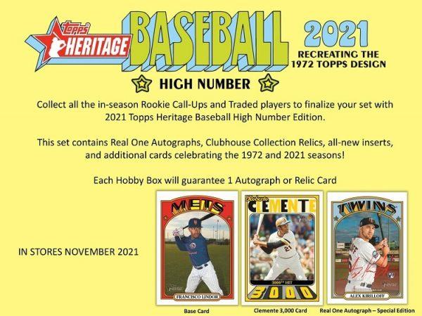 2021 Topps Heritage High Number Hobby Baseball Box