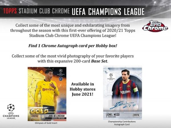 2021 Topps Stadium Club Chrome UEFA Soccer Hobby Box