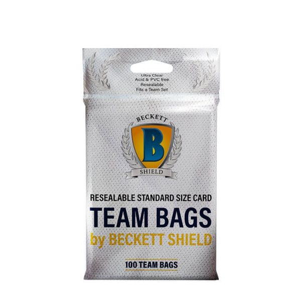 Beckett Shield Sleeves Team Bags 100 Count Pack