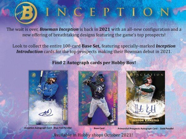 2021 Bowman Inception Hobby Baseball Box