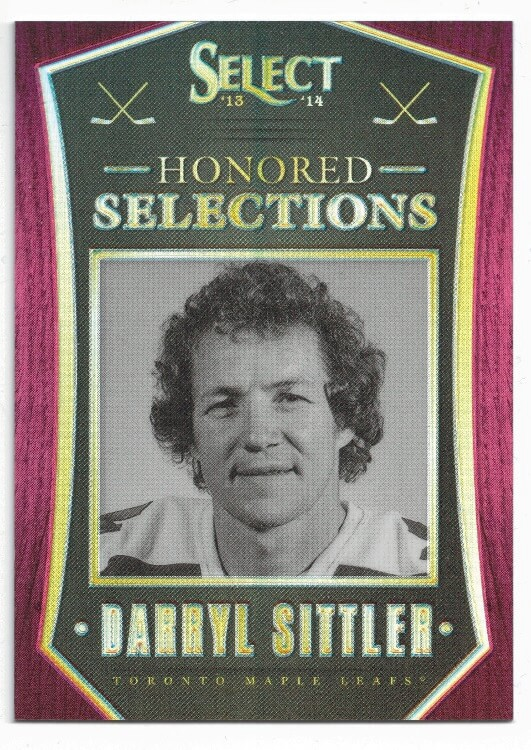 2013-14 Panini Select Honored Selections Red Prizm Darryl Sittler /35