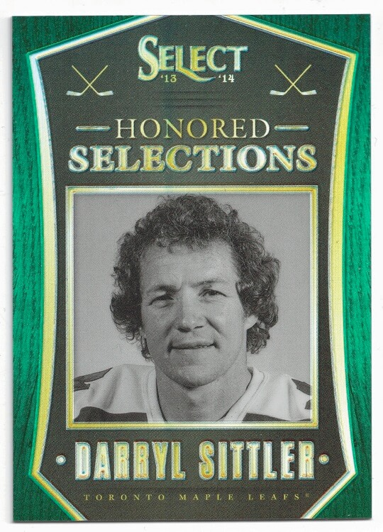 2013-14 Panini Select Honored Selections Green Prizm Darryl Sittler 18/25