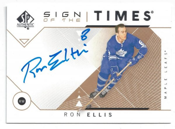 2018-19 Upper Deck SP Authentic Sign of The Times Ron Ellis