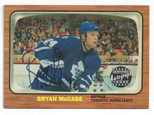 2002-03 Topps Heritage Autograph Bryan McCabe RO-BM