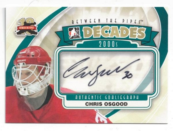 2011-12 ITG Between The Pipes Decades Autograph Chris Osgood