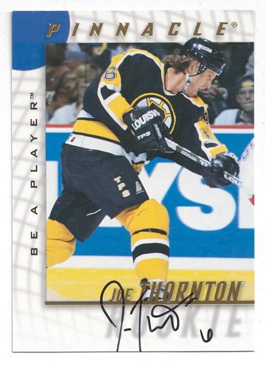 1997-98 Pinnacle Be A Player Auto Joe Thornton #232