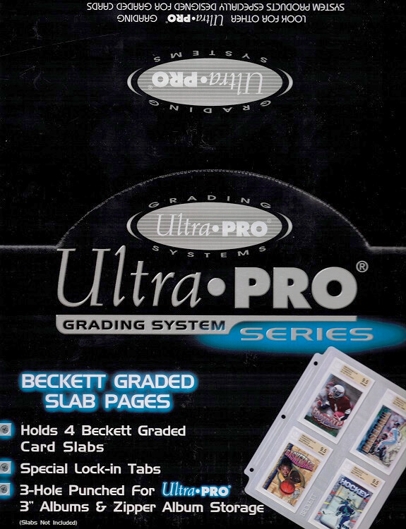 Ultra Pro Beckett/MNT Graded Slab Pages (10 Count Box)