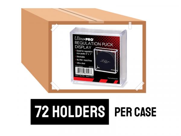 ULTRA PRO SQUARE REGULATION PUCK HOLDER 3″ X 1″ CASE (72 HOLDERS)