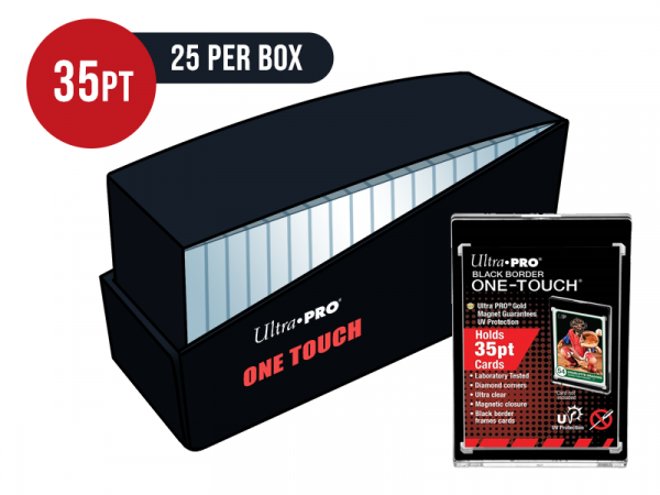 Ultra Pro Black Border 35pt Card One Touch Magnetic Closure Box - Box of 25