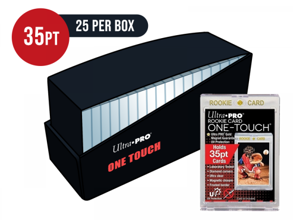 Ultra Pro Gold Rookie 35pt Card One Touch Magnetic Closure Box - Box of 25