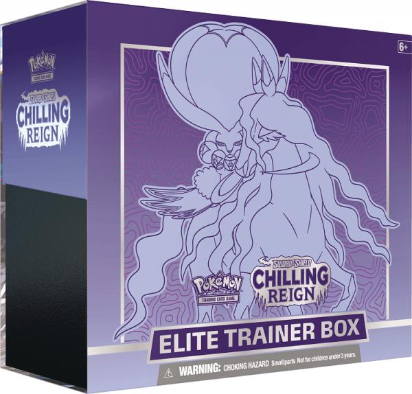 Pokemon Sword & Shield Chilling Reign Shadow Rider Calyrex Elite Trainer Box