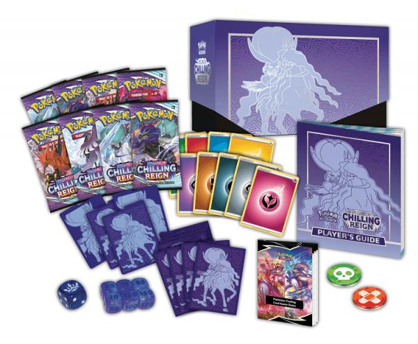 Pokemon Sword & Shield Chilling Reign Ice Rider Calyrex Elite Trainer Box