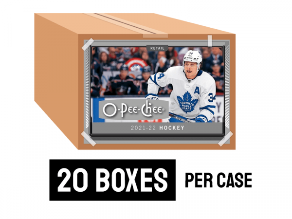 2021-22 O-Pee-Chee Retail Hockey case - 20 boxes per case