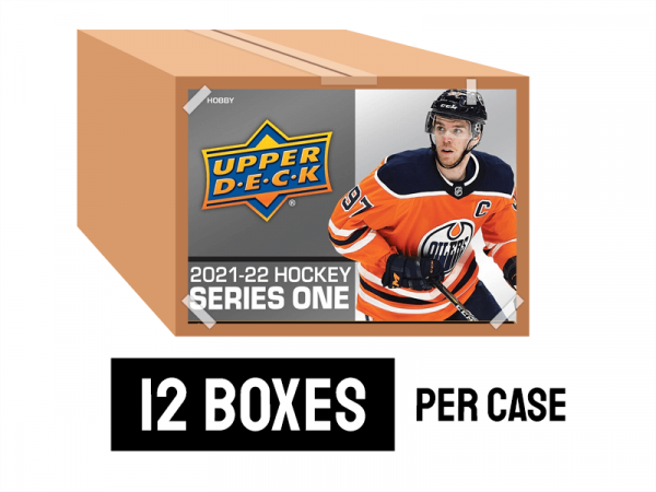 2021-22 Series 1 Hobby Hockey case - 12 boxes per case