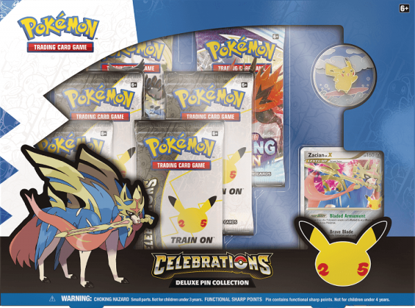 Pokemon Celebrations Collection Deluxe Pin Collection Zacian LV.X
